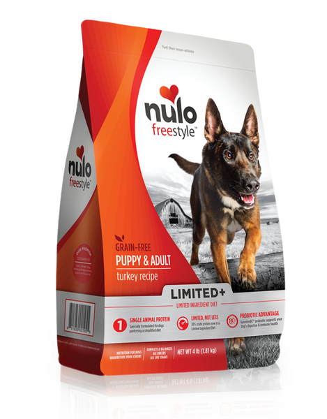 Nulo FreeStyle Limited+ Grain Free Turkey Recipe Puppy & Adult Dry Dog Food