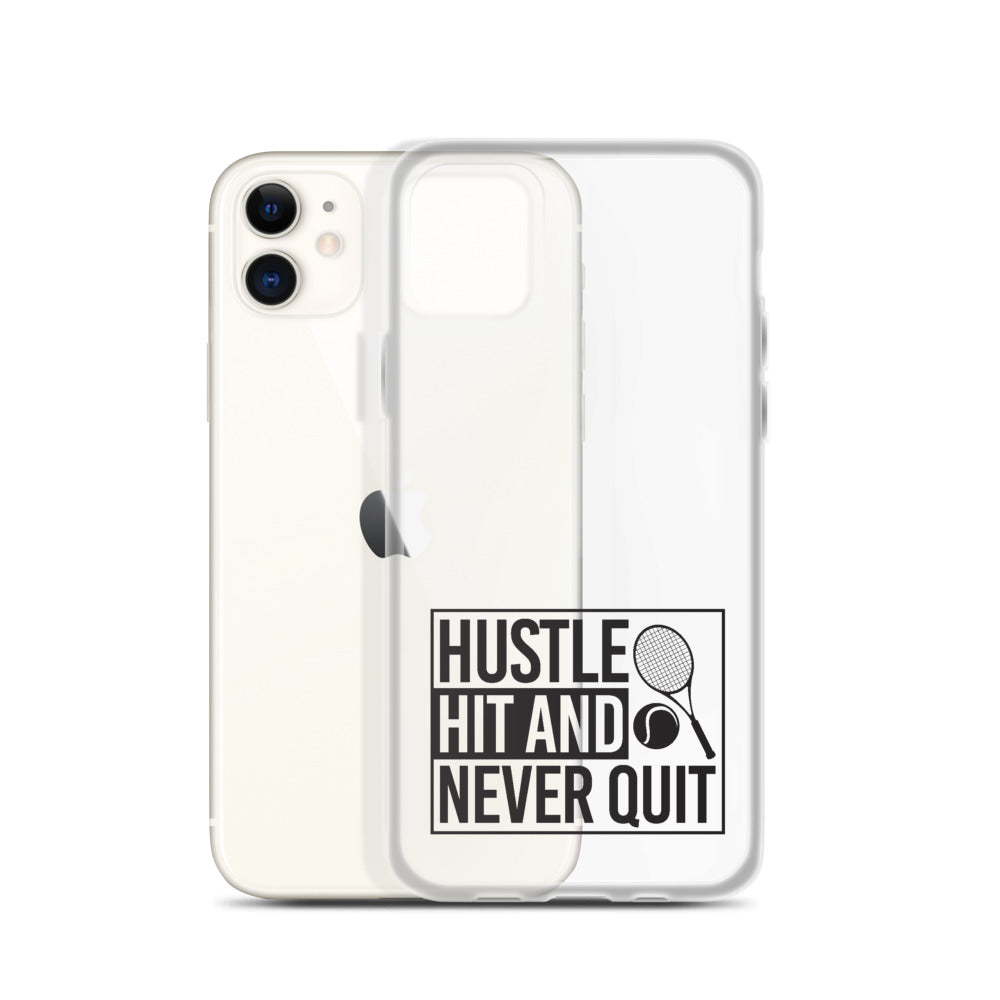 Hustle Hit and Never Quit iPhone Case