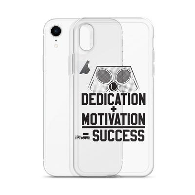 Dedication + Motivation = Success iPhone Case