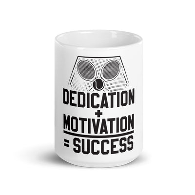 Dedication + Motivation = Success Mug