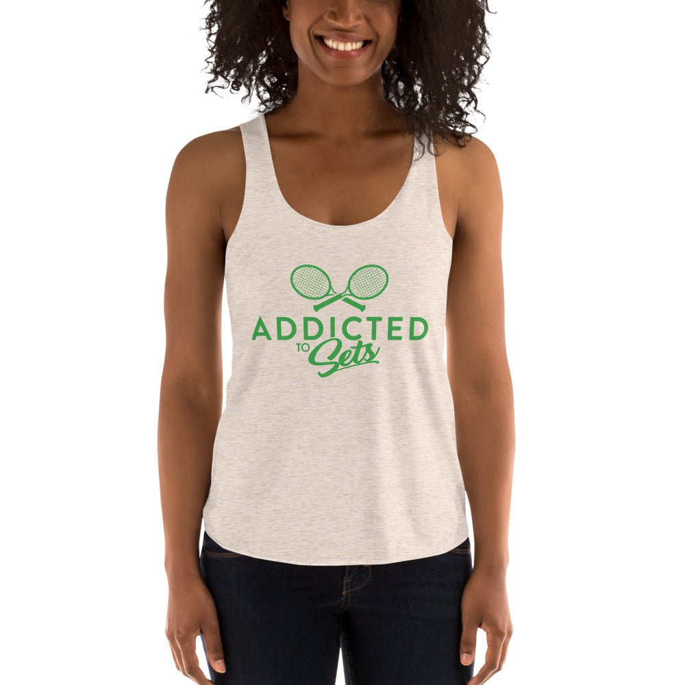 Women's Tri-Blend Racerback Tank - Addicted to Sets
