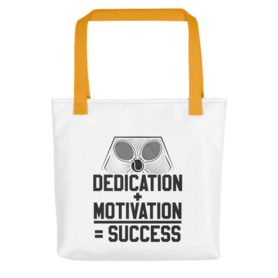 Dedication + Motivation = Success Tote bag