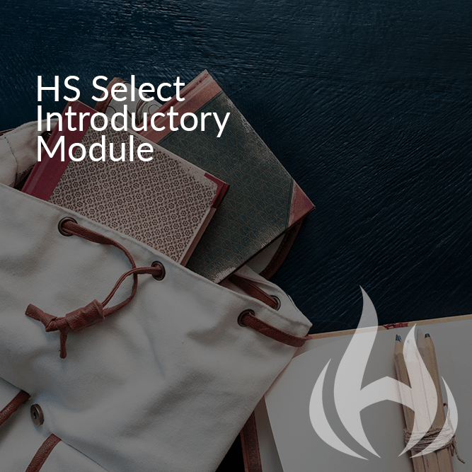 HS Select Introductory Module (Live Conference Call)
