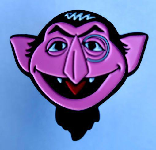 The Count Enamel Pin