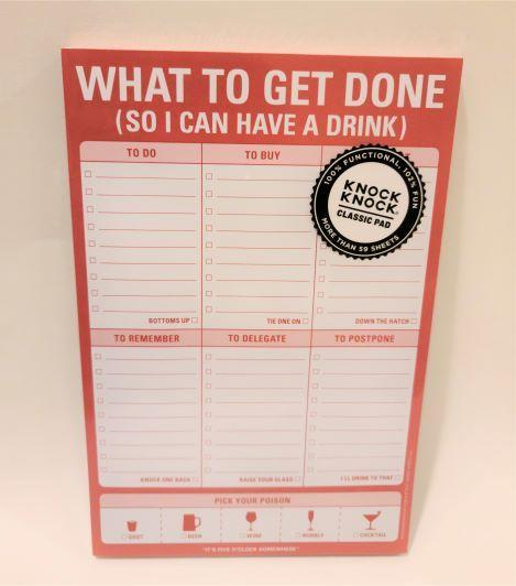 What To Get Done Notepad