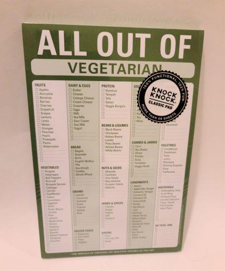 All Out Of Vegetarian Notepad