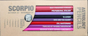 Scorpio Astrology Pencils