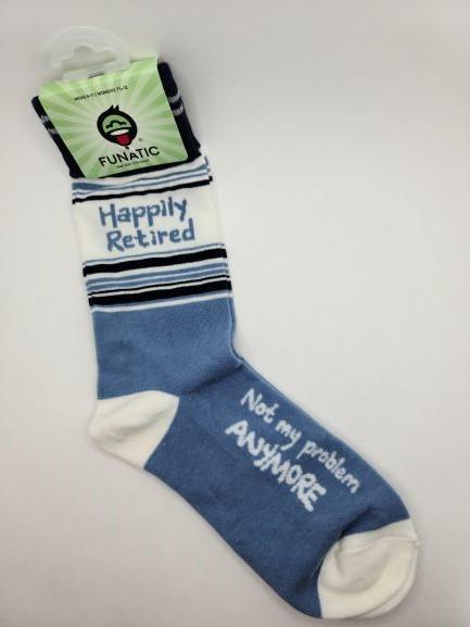 Happily Retired Unisex Crew Socks