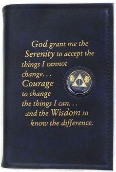 BC02 - Big Book - Blue - Hard Cover W/Coin&Serenity Prayer