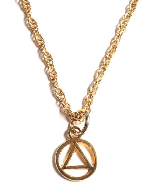 Necklace AA Symbol Sm GP