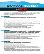 Traditions Checklist