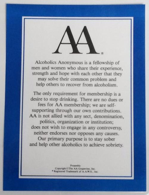 AA Preamble - Laminated