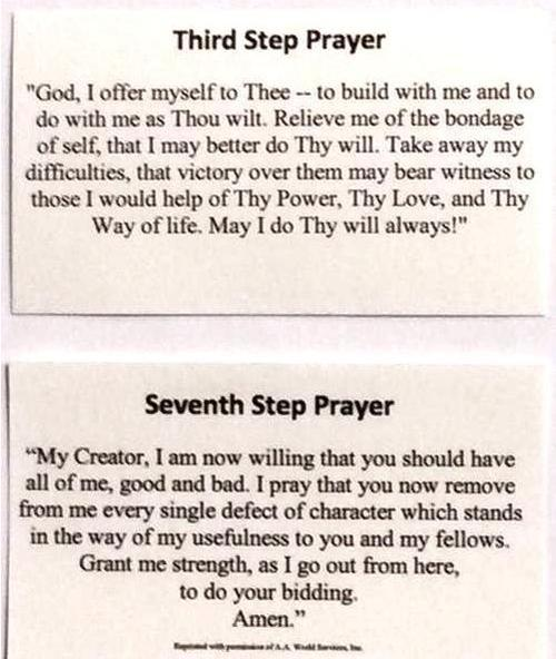 3rd & 7th Step Prayer