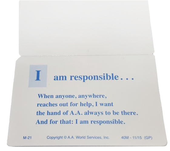 M21 - Responsibility Card