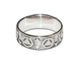 Band Circle/Triangle Ring - Sterling Silver