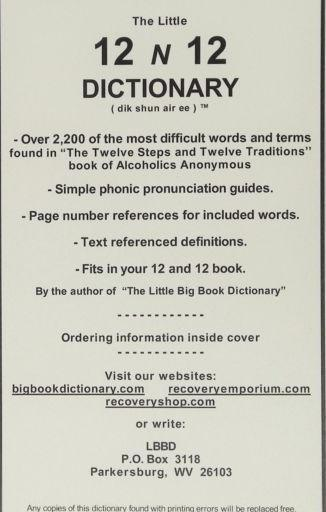 Twelve and Twelve Dictionary - LP