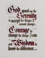 Serenity Prayer - Laminated