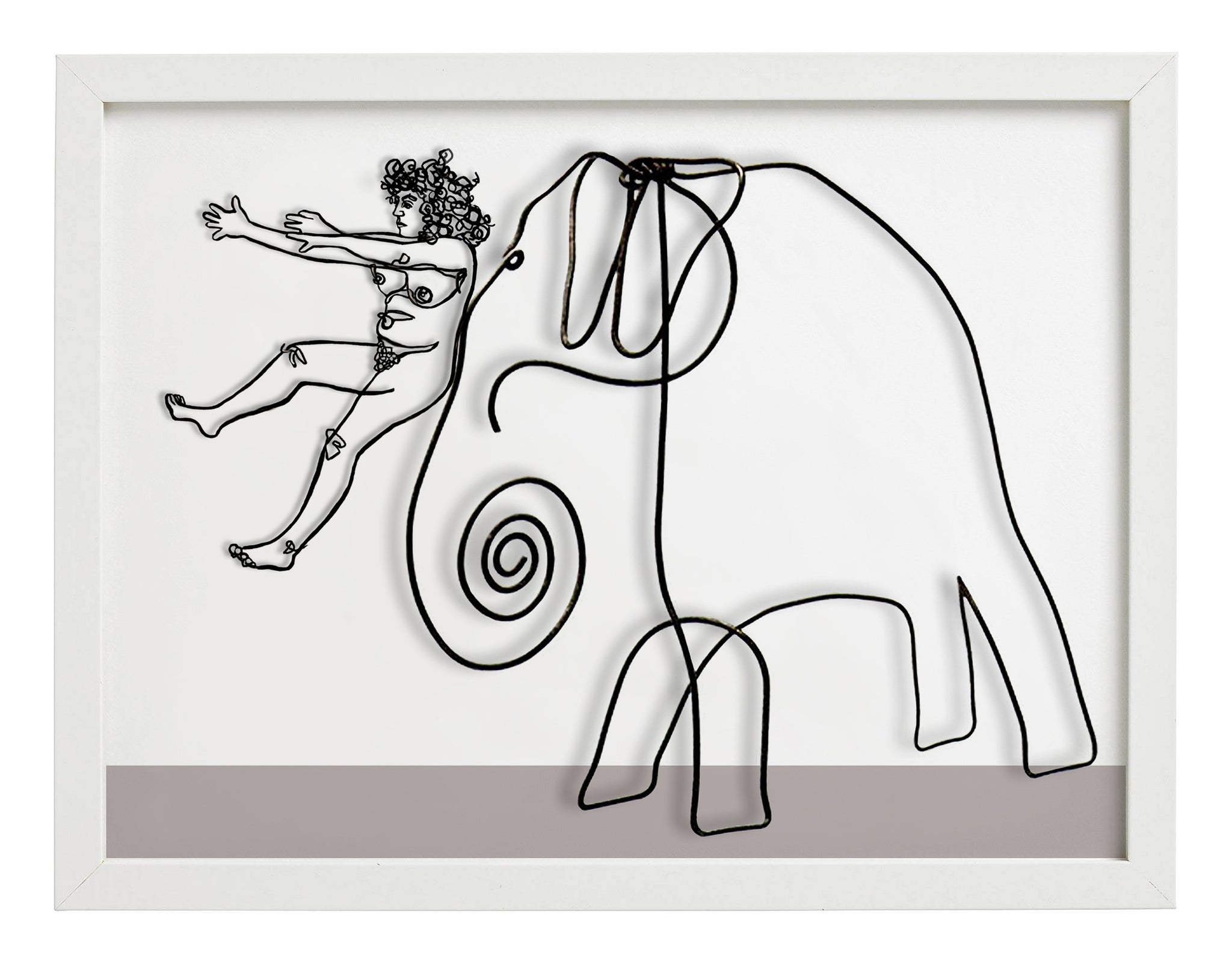 "Grace Graupe-Pillard ""Grace Sliding Down The Nose of Calder's Elephant"""