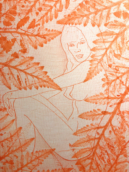 "Indira Cesarine ""Eve in the Leaves"""