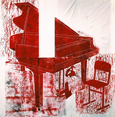 "Katya Zvereva ""Grand Piano in Red"""