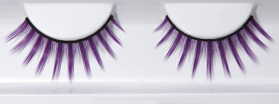 Synthetic Hair Purple False Lashes