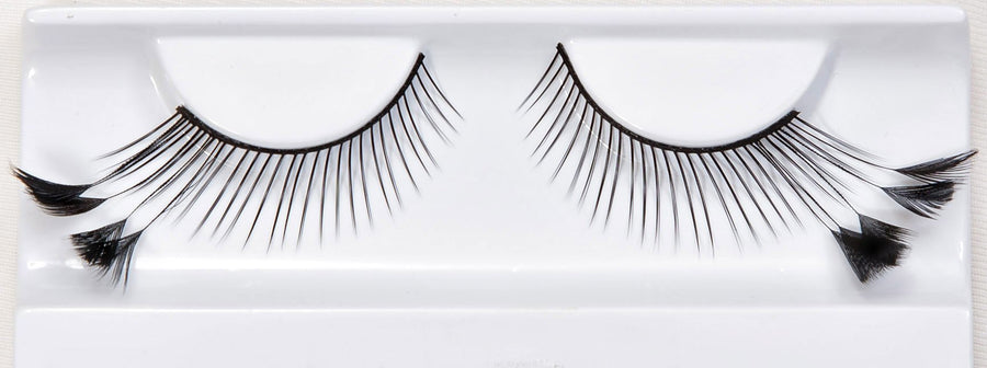 Feather Black Floret Tipped False Lashes