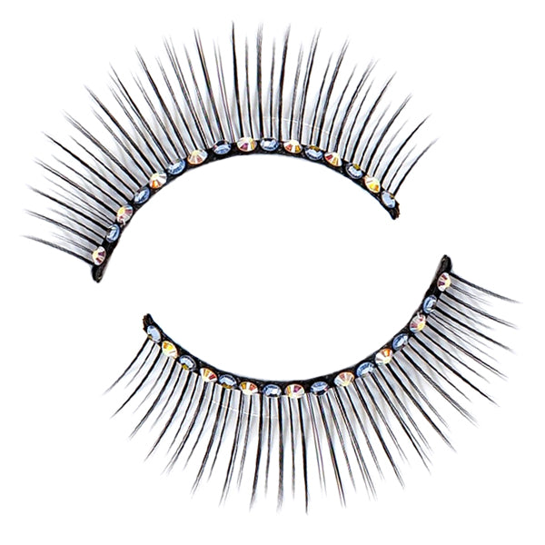 Decorated With Diamante and Sapphire Crystals False Lashes