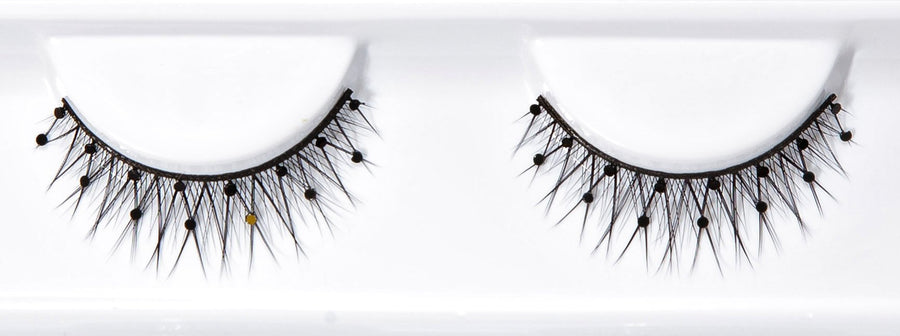 Decorated Black Stud False Lashes