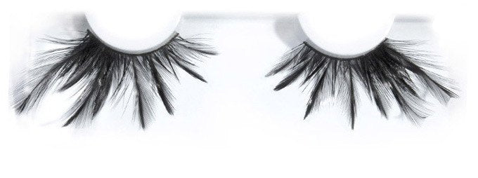 Feather Black   False Lashes