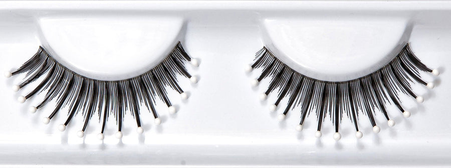 Decorated White Water Droplet Beads False Lashes