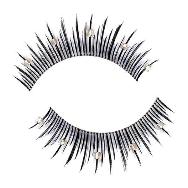 Decorated False Lashes With Beads