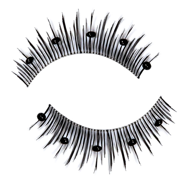 Decorated False Lashes With Small Beads