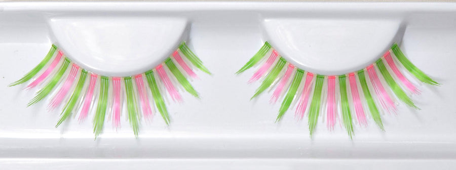 Glow In The Dark Green And Pink False Lashes
