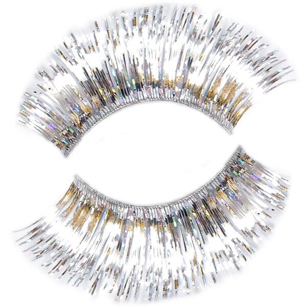 Hologram Silver False Lashes