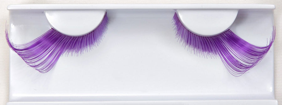 Synthetic Hair Colourful Winged Purple False Lashes