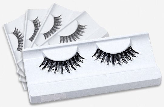 Black thick density false eyelashes 5 pack