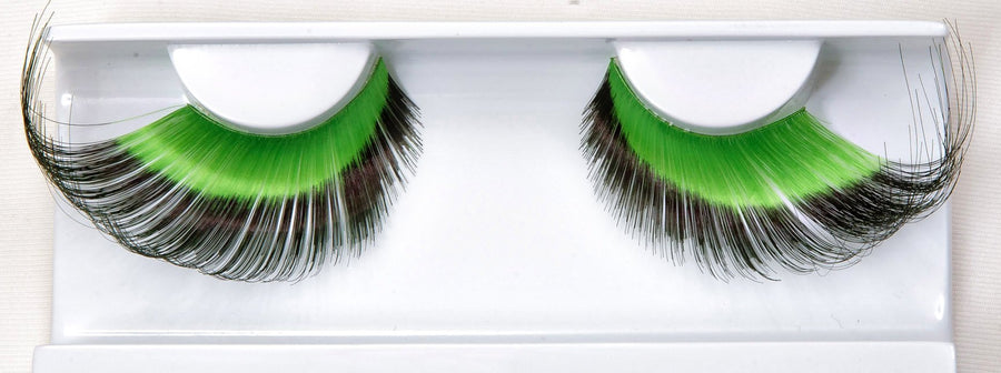 Synthetic Hair Colourful Green And Black False Lashes