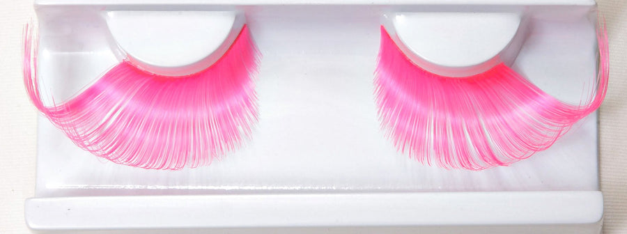 Synthetic Hair Light Pink Winged False Lashes