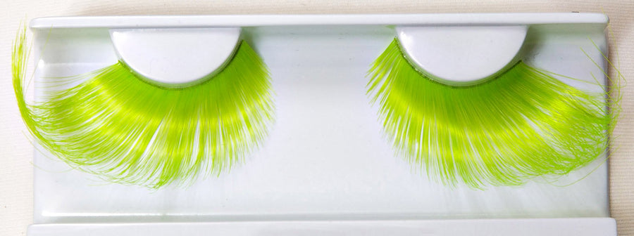 Synthetic Hair Apple Green False Lashes