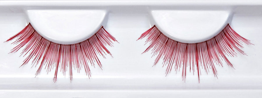 Synthetic Hair False Lashes Maroon