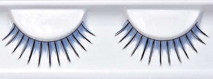 Synthetic Blue And Black False Lashes