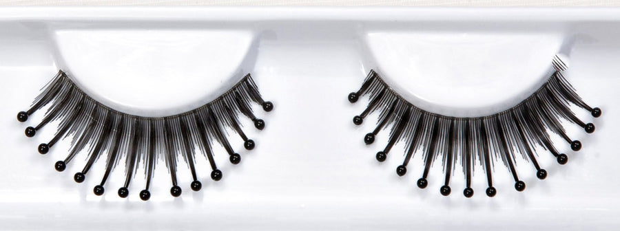 Decorated Black Water Droplet Beads False Lashes