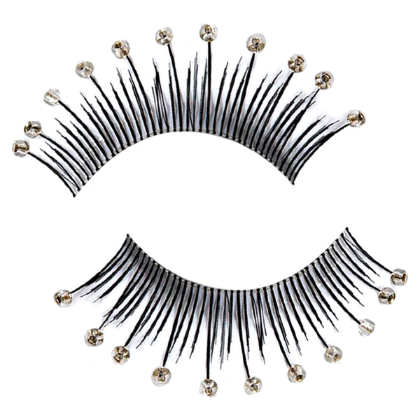 Decorated Clear Beaded False Lashes