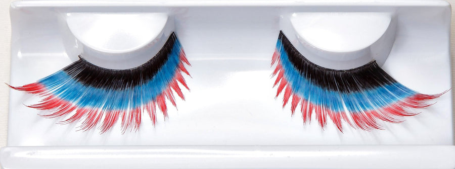 Synthetic Hair Pink/Black/ Blue False Lashes