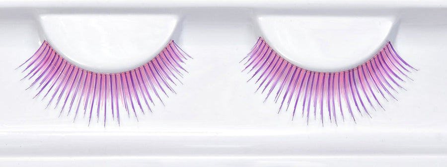 Synthetic Hair Colourful Natural Lilac False Lashes
