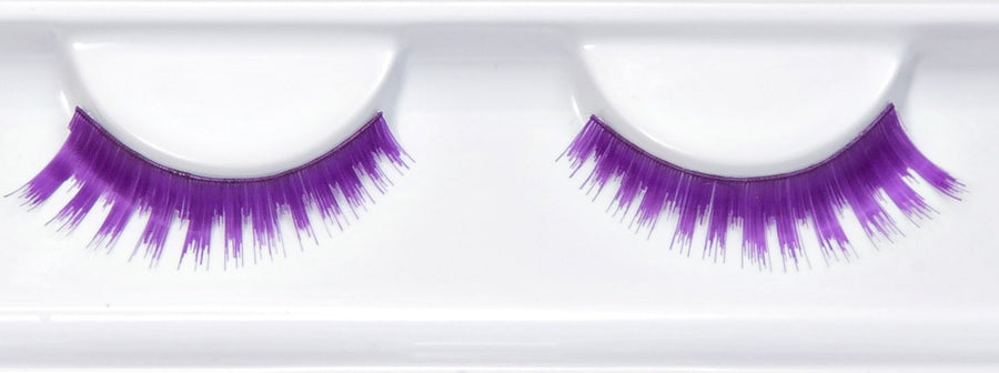 Synthetic Hair Colourful Natural Purple False Lashes