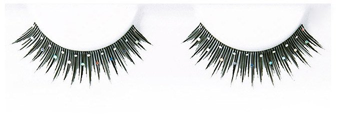 Decorated White Stones False Eyelashes