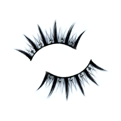 Decorated Long Black False Lashes