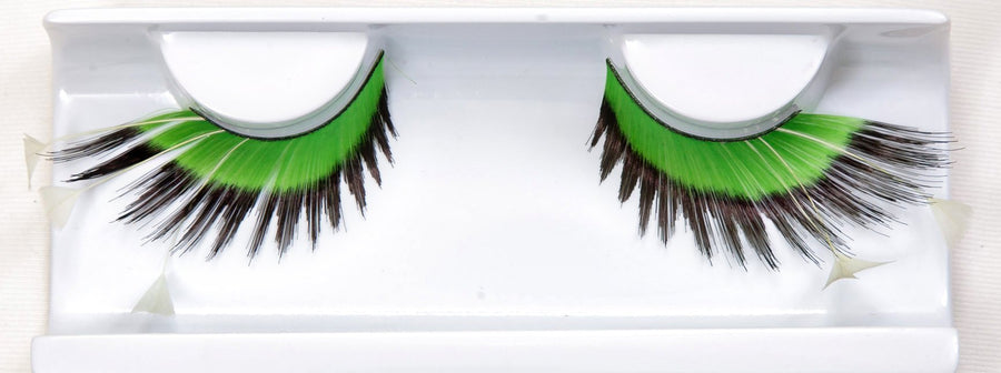 Feather Green Tipped False Lashes