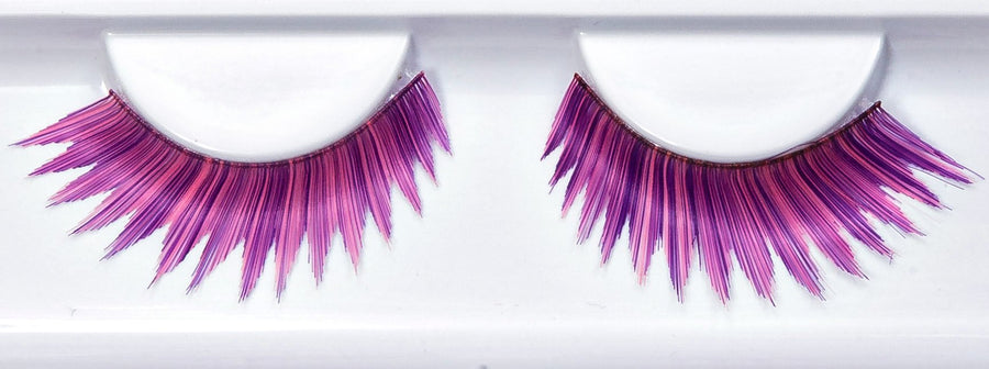 Synthetic Hair Purple, Red And Black False Lashes
